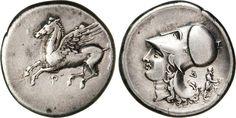 NumisBids: Numismatica Varesi s.a.s. Auction 65, Lot 23 : CORINTHIA - CORINTO - (405-345 a.C.) Statere. D/ Pegaso R/ Testa...