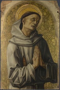 Carlo Crivelli (1435 – 1495) - Polyptych of San Domenico. Saint Francis (detail). National Gallery, London.