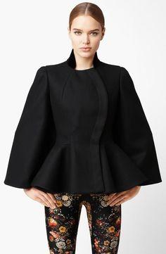 Alexander McQueen Wool Felt Peplum Cape  $2,245.00