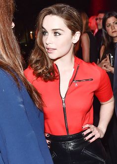 """gameofthronesdaily: """"Emilia Clarke attends the Louis Vuitton 'Series 2' Exhibition (February 05, 2015) """""""