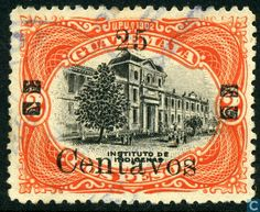Stamps - Guatemala - School for Indians with print 1920