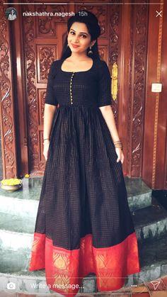 Buy Designer Gowns online from VinothnaDesigns - abandoned castles Long Gown Dress, Lehnga Dress, The Dress, Long Frock, Lehenga, Silk Dress Design, Long Dress Design, Kerala Saree Blouse Designs, Half Saree Designs