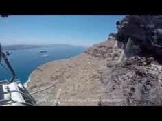 Santorini view from the tram - Cruise Holidays | Luxury Travel Boutique Mississauga, Kingsway, Etobicoke, Milton, Toronto, Brampton, Guelph, Oakville, Orangeville, Brampton cruise travel agency helping Canadian and US clients plan and book their cruise vacations 855-602-6566  905-602-6566 http://luxurytravelboutique.cruiseholidays.com/