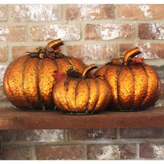 Copper Nesting Pumpkins Fall Decoration - Set of 3 #TheGreatHeron