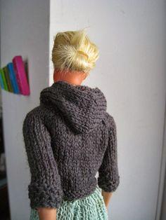 Best Barbie Knits: Barbie Kangaroo Jacket in #10 Crochet Cotton