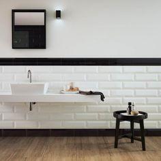 ... bianca Oxford di Marazzi col. blanco lucido (12.4x38 cm) per il bagno