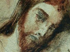 "DELACROIX Eugène,1826 - Le Christ au Jardin des Oliviers, Eglise St-Paul-St-Louis, Paris, Etude (drawing, dessin, disegno-Louvre RF23325) - Detail 48  -  TAGS/ art painters peintres details détail détails painting paintings peintures ""peintures 19e"" ""19th-century painting"" France ""Christ in the Garden of Gethsemane"" woman women femme man men homme romantisme romanticism nu nude naked nudity nudité anges angel armes weapons soldats soldiers nuit night Aquarelle watercolour watercolor"