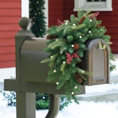 36 cordless led mailboxmantel swag list price 3999 price 2699 saving 1300 33 - Christmas Mailbox Decorations Ideas