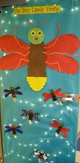 Eric Carle inspired this fantastic door decor! This would be so cute to use on bulletin boards when we have our Eric carle theme!