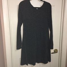 OLD NAVY M WOMEN TUNIC DRESS HEATHER GRAY LONG SLEEVE  #OldNavy #TunicFitFlare #Casual Women Tunic, Ebay Dresses, Heather Gray, Old Navy, High Neck Dress, Shoulder, Grey, Long Sleeve, Casual