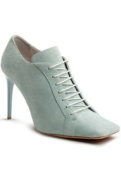 Pair this minty shoe with prim pencil skirts, leather pants, and everything in between.