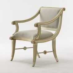 Star Chair by Bunny Williams. God is in the details, look at the scrollwork w. the gold leaf/gold paint on the edges and the stars on the stretchers.