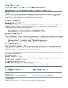 Preschool Teacher Resume Samples Free