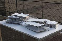 Concept Models Architecture, Architecture Design, Architecture Model Making, Library Architecture, Museum Architecture, School Architecture, Urban Rooms, Auditorium Design, Architect Jobs