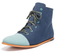 #Zuriick Damien Boots. Canvas upper, leather sole. Colors that POP!!!