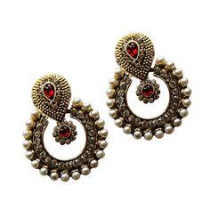 Buy Ramleela Dangle Earring with an Ethnic Look (Red) (UERLET02RD-R) #RamleelaDangleEarring #Earring #Amazon #Offer