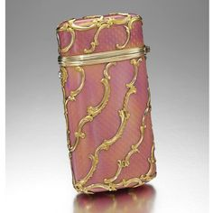 Enameled Gold Cigarette Case by Faberge! #VintageJewelry