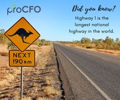 Did you know:  Highway 1 is the longest national highway in the world.  #TuesdayTrivia #proCFOPerth #DavidOfficen #virtualCFO #BusinessImprovementAdvice #Business  #trivia #TuesdayPost #funfact #DidYouKnow
