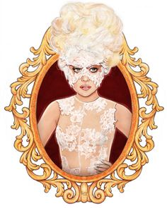 Lady Gaga by Helen Green,inspired from Lady Gaga's appearance in Brit Awards 2010