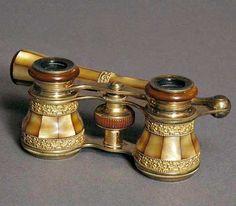 French Victorian Opera Glasses  c. 19th Century