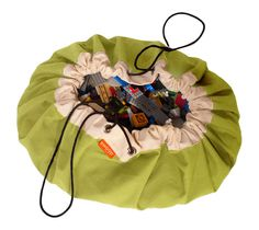 Smart Design!  Drawstring Swoopbag opens up into a play mat.  Then cinches up into a storage bag that can be hung. Available in different colors but here's the Lime Cool Lego Bag.  $48