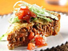 Recipe for a Taco Pie (In Finnish) Beef Tapa, Garlic Fried Rice, Jollibee, Taco Pie, Marinated Beef, Beef Sirloin, Sweet And Salty, Calorie Diet, Tex Mex