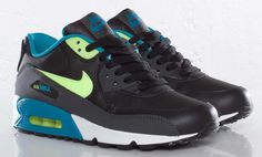 Nike Air Max 90 GS | Neo-Turquoise & Volt (i miss my airmax :'( )