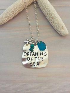 Beach Charm Necklace Sea Glass Charm Necklace by LaniMakana