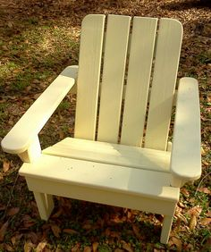 Child Size Adirondack Chairs, Solid Wood, Outside Chairs In Red Or Cream, Yellow