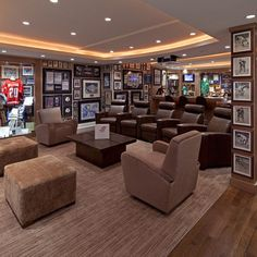 27 Awesome Man Cave Designs Just In Time Football Season Man Cave Designs, Bar Designs, Man Cave Bar, Men Cave, Best Man Caves, Sports Man Cave, Football Man Cave, Sports Wall, Hockey Man Cave