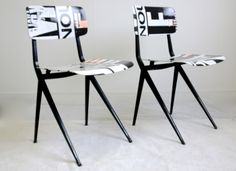 Crafted vintage chairs by Project99 Amsterdam for CHROMATICS Paris  http://www.chromatics.fr/fr/chaises-project99/213-chaises-revisitées.html