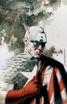 Los mejores artworks de Super-héroes: Capitán América