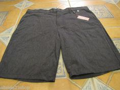 Men's RARE Modern Amusement walk casual shorts 28 black CROW NEW NWT surf skate