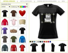 Design your own shirt, bag, etc.