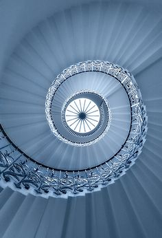 Exhibit D. I knew all we had to do was wait. Eventually, this elegant spiral staircase will be made over in everyone's favorite colors. Beautiful Stairs, Beautiful Buildings, Grand Staircase, Staircase Design, Art And Architecture, Architecture Details, Winding Stair, Take The Stairs, Stair Steps