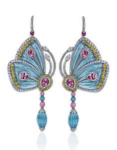 Papillon Blue Topaz Earrings