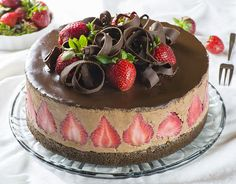 Strawberry Chocolate Cake - Chocolate Dessert Recipes - OMG Chocolate Desserts