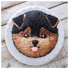 Puppy buttercream cake