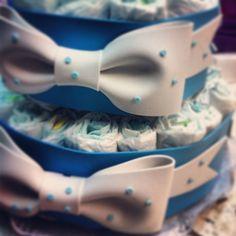 Tarta de pañales para un bebe que llega pronto!!