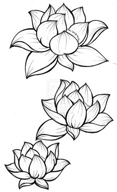 Lotus Blossom Tattoo by Metacharis.devian… on Lotus Blossom Tattoo by Metacharis. Kunst Tattoos, Body Art Tattoos, Tattoo Drawings, Tattoo Art, Tatoos, Tattoo Ribs, Ship Tattoos, Outline Drawings, Ankle Tattoos