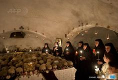 """""""Orthodox Christians celebrate Easter in Church of the Holy Sepulchre in Jerusalem (L) and at a monastery in Romania"""" Orthodox Christianity, France, Christians, Romania, Meditation, Easter, Twitter, Concert, Celebrities"""