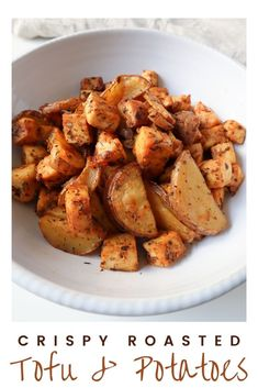 I love crispy roasted potatoes! I could, for sure, have them in a big bowl for dinner and be perfectly happy. Nothing else needed! But, being an adult, I reluctantly accept I might need something else. So, I came up with this simple potato and tofu bake, perfect for stress-free weekday dinners. Click the link for this easy and delicious recipe. #vegetarian #tofu #roastedpotatoes