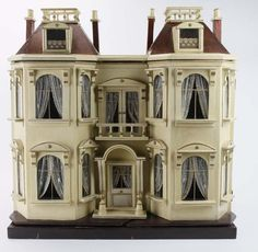 G. J. Lines Dolls' House. Great shape, detail and simple color.  .....Rick Maccione-Dollhouse Builder www.dollhousemansions.com