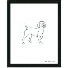 Draw Dogs Personal-Prints Pointer Dog Line Drawing Framed Art - Pointer Puppies, Pointer Dog, Creature Drawings, Animal Drawings, Dog Drawings, Black And White Beagle, Dog Line Drawing, Dog Drawing Simple, Drawing Frames