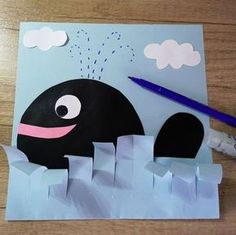 Animal Art Projects For Kids Schools Children 25 Ideas For 2019 Whale Crafts, Frog Crafts, Ocean Crafts, Toddler Crafts, Diy Crafts For Kids, Projects For Kids, Art For Kids, Children Crafts, Art Children