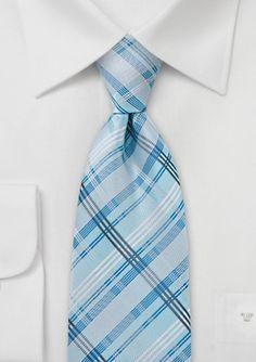 Kennedy Blue Mint Blue Men's Tie KB1984 | Kennedy Blue #plaid