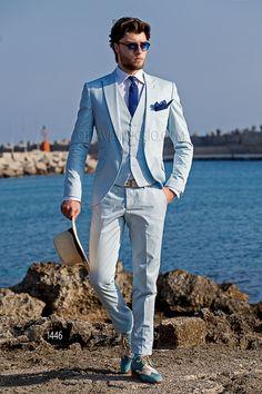 Latest Coat Pant Designs Pink Men Suits for Wedding Groom Tuxedos Best Man Blazer Costume Homme Slim Fit Terno Masculino Beach Wedding Attire, Wedding Suits, Beach Wedding Groom, Wedding Dress, Groomsmen Suits, Mens Suits, Hipster Suit, Dandy Look, Blue Suit Men