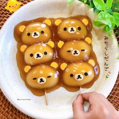 Food tastes best when cuteness is involved! these rilakkuma dango made from sweet glutinous rice are fun and easy to make food and drink drawings easy watercolor food dalgura foto s en video s food and drink drawings easy watercolor food on Japanese Sweets, Japanese Food, Sweet Candy Store, Kawaii Cooking, Cute Animal Drawings Kawaii, Watercolor Food, Food Painting, My Best Recipe, Cafe Food