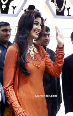 Shilpa Shetty Traditional look at 8th Ranka Jewellers Store in Pune