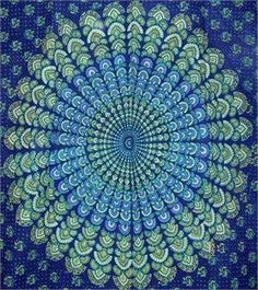 Cotton Sanganeer Peacock Print Tapestry indianbedspreads.net,http://www.amazon.com/dp/B002COCYJC/ref=cm_sw_r_pi_dp_pVrqtb0WQ2PPTN8T